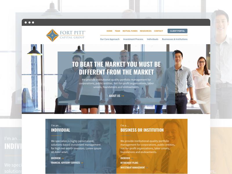 Screenshot of the Fort Pitt Capital Homepage